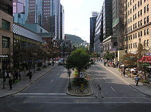 McGill College Avenue - View from Place Ville Marie.