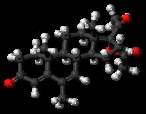 Megestrol acetate - Image: Megestrol acetate molecule ball