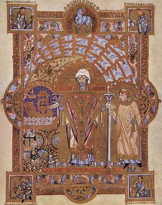 Erhard of Regensburg - Saint Erhard reads Mass