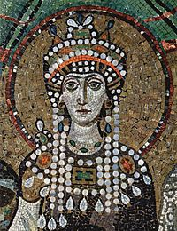Mosaico bizantino, c 547, Ravenna, It�lia.