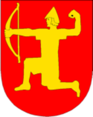 Einar Thambarskelfir - Einar Thambarskelfir in Melhus Municipality's coat of arms.