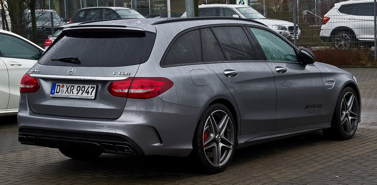 file mercedes amg c 63 s t modell s 205 heckansicht 14 februar 2016. Black Bedroom Furniture Sets. Home Design Ideas