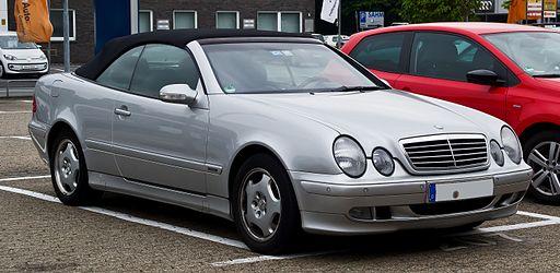 Mercedes-Benz CLK 200 Kompressor Cabriolet Elegance (A 208, Facelift) – Frontansicht, 1. Juni 2013, Ratingen
