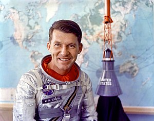 Mercury-Atlas 8 - Image: Mercury Astronaut Wally Schirra GPN 2000 001351