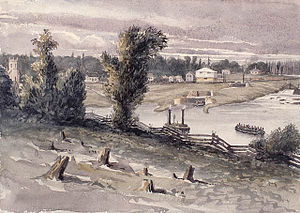 Grenville County, Ontario - Merrickville, Rideau River c.1838