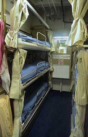 Berth (sleeping) - A berth on a Royal Navy vessel