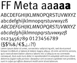 Meta bold normal font for essays