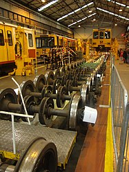 Metrocar axles, Tyne and Wear Metro depot open day, 8 August 2010 (1).jpg