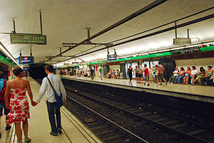 Plaça de Catalunya station - Image: Metrocatalunyal 3