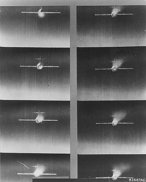 MiG Alley - Gun camera strip showing Soviet MiG-15 over Korea, April 1953.