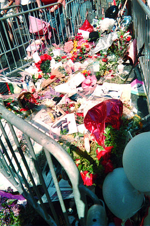 The M. Jackson's star on the Hollywood Walk of...