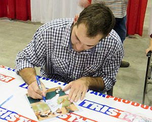 Michael Wacha - Wacha signing autographs in January 2014