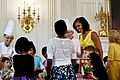 Michelle Obama talks with children from military families, 2012.jpg