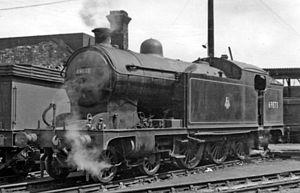 LNER Class A8 - A8 4-6-2T No. 69873 at Middlesbrough Locomotive Depot 1954