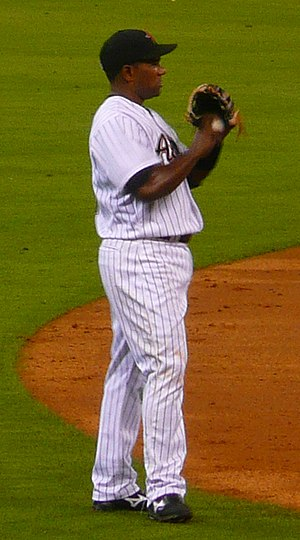 Miguel Tejada - Tejada playing for the Houston Astros in 2008