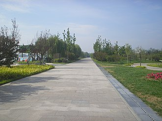 Shouguang - Image: Mihe Park Road