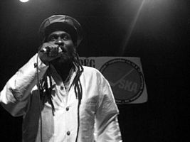 Mikey Dread performing at the 2006 Winnipeg Ska and Reggae Festival.