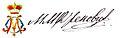 Milan obrenovic signature.jpg
