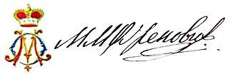 Milan Obrenović II, Prince of Serbia - Image: Milan obrenovic signature