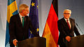 Minister Carl Bildt and Frank-Walter Steinmeier at a press conference.jpg