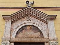 Miola - Chiesa San Rocco - Affresco portone.JPG