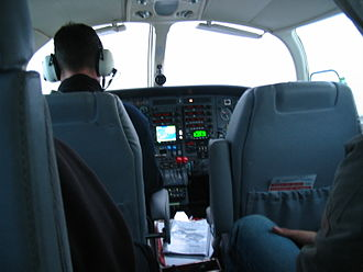 Air Saint-Pierre - Inside the cabin of the Air Saint-Pierre Reims-Cessna F406, 15 May 2008