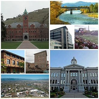 Missoula, Montana - Image: Missoula Collage Wikipedia 8