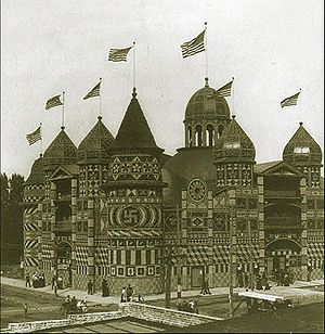 The Corn Palace in Mitchell, South Dakota in 1907.