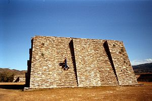 Mixco Viejo - Pyramid A1, one of the principal structures of Group A