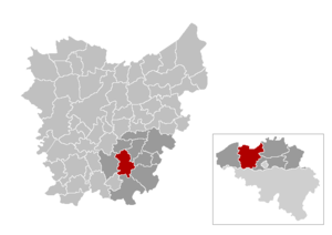 Herzele - Image: Mnp Herzele Location
