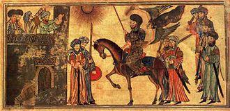 Banu Nadir - Submission of Banu Nadir to the Muslim troops (14th-century painting)