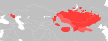 Map of Mongolian Speakers in Asia.