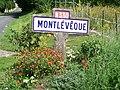 Mont-l'Évêque (60), rue d'Ermenonville - ancienne RN 330, plaque Michelin de 1959.jpg