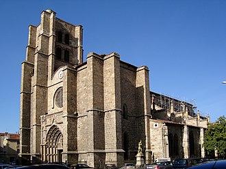 Montbrison, Loire - The collegiate church in Montbrison