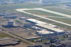 Bombardier Aerospace - Main engineering building and assembly plant of Bombardier Aerospace at Montréal–Pierre Elliott Trudeau International Airport