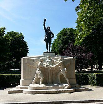 Place des États-Unis - Memorial to American Volunteers, Place des États-Unis, Paris.