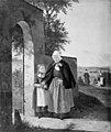 Moritz Unna - En gammel kone på vej til kirke - KMS366 - Statens Museum for Kunst.jpg
