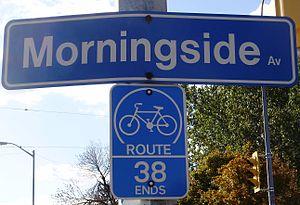 Morningside Avenue (Toronto) - Image: Morningside Avenue Sign