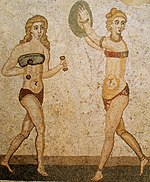 Mosaïque des bikinis, Piazza Armerina (cropped version).jpg