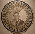 Mosaic portrait representing Queen Berenice II, wife of Ptolemy III, showing her with prow of warship on her head symbolizing the city of Alexandria, found at Thmuis, Ptolemaic period, Alexandria National Museum, Egypt - 50799425708.jpg
