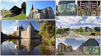 Campénéac - Image: Mosaique de la commune de Campénéac