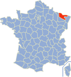 Communes of the Moselle department - Image: Moselle Position