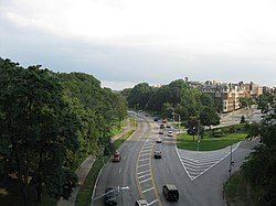 View of the Mosholu Parkway in Bedford Park