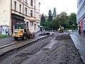 Moskevská, k Francouzské, rekonstrukce tramvajové trati.jpg