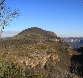 Mount Banks mountain in the Blue Mountains National Park, New South Wales, Australia