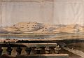 Mountain range seen over the Nile from the temple at Luxor, Wellcome V0049319.jpg