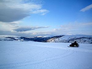 Finnmarksvidda - Finnmarksvidda near Alta. Altaelva valley in the background