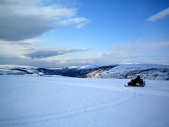 Finnmarksvidda - Finnmarksvidda near Alta. Altaelva valley in the background