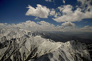 Geography of Afghanistan - Snow-covered Hindu Kush mountains in Afghanistan