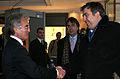 Msc 2006-Impressions Friday-Prof. Dr. Horst Telschick begruesst den georgische Praesidenten Micheil Saakaschwili.jpg